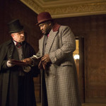 "DRACULA -- ""A Whiff of Sulfur"" Episode 2 -- Pictured: (l-r) Simon Dutton as Sir Clive Dawson, Nonso Anozie as R.M. Renfield -- (Photo by: Jonathon Hession/NBC)"