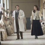 "DRACULA -- ""Goblin Merchant Men"" Episode 103 -- Pictured: (l-r) Anthony Calf as Dr. William Murray, Jessica De Gouw as Mina Murray -- (Photo by: Jonathon Hession/NBC)"