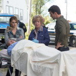 "HAVEN -- ""Crush"" Episode 408 -- Pictured: (l-r) Emily Rose as Audrey Parker, Jayne Eastwood, Lucas Bryant as Nathan Wuornos -- (Photo by: Michael Tompkins/Syfy)"