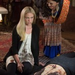 "GRIMM -- ""PTZD"" Episode 302 -- Pictured: (l-r) Claire Coffee as Adalind Schade, Shohreh Aghdashloo as Stefania -- (Photo by: Scott Green/NBC)"