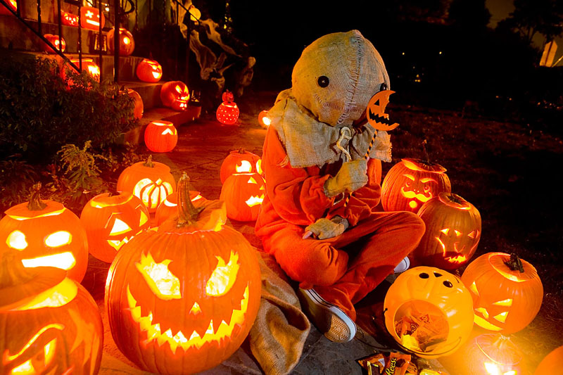 Sam of Trick 'R Treat. And lots of Jack O Lanterns